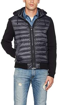 Tommy Hilfiger Men's Naz Knit Down Bomber Jacket, Blue (Sky Captain) Medium