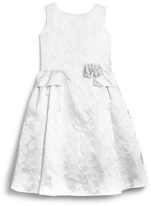 Us Angels Girls' Brocade Flower Girl Dress - Little Kid