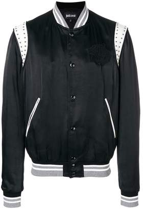 Just Cavalli embroidered chest panel bomber