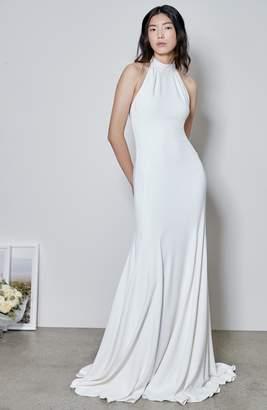 Stella McCartney Magnolia Halter Trumpet Gown