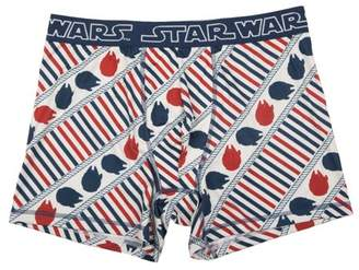 Star Wars Big Men's All Over Print Nautical Themed Millennium Falcon Poly Boxer Brief, 2XL