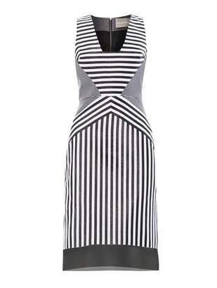Richard Nicoll Contoured-striped jacquard dress