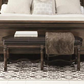 Bernhardt Montebella Leather Bench