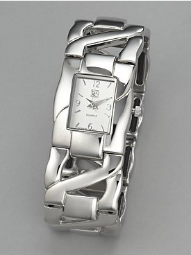 New York & Co. Oversized Links Stretch Watch
