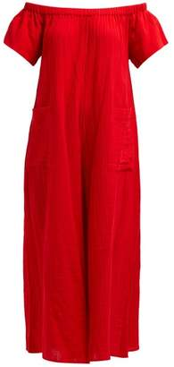 Mara Hoffman Blanche Wide Leg Cotton Jumpsuit - Womens - Red