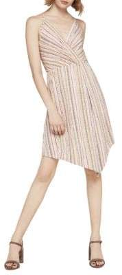 BCBGeneration Basket-Weave Stripe Surplice Dress