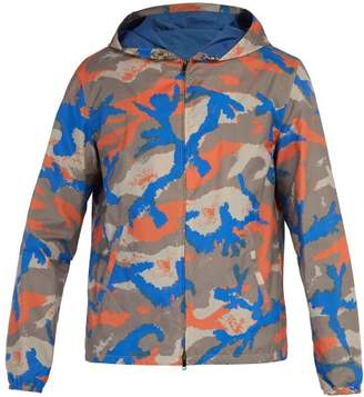 Valentino Camo Art Print Jacket - Mens - Orange Multi