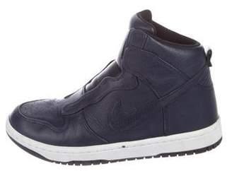 Sacai x Nike Leather High-Top Sneakers