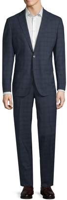 Cole Haan Modern Fit Grand OS Windowpane Suit
