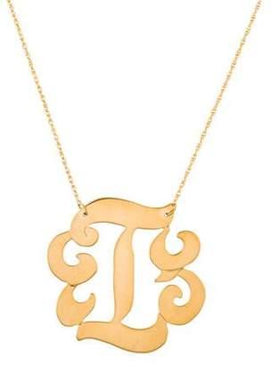 Jennifer Zeuner Jewelry Emily Large Swirly Initial 'I' Pendant Necklace