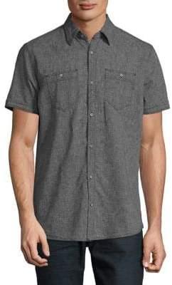 Point Zero Linen and Cotton Slub Short Sleeve Sport Shirt