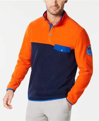 Club Room Men's Button-Pocket Colorblocked Fleece Pullover