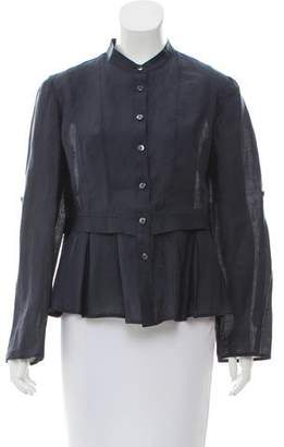 Armani Collezioni Long Sleeve Button-Up Top