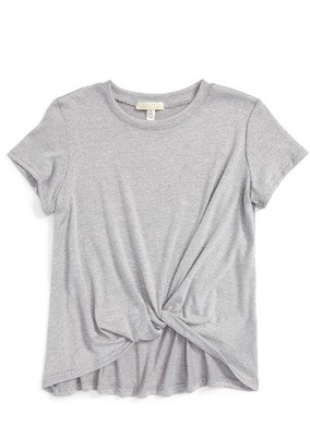 Girl's Love On Tap Knotted Tee $26 thestylecure.com