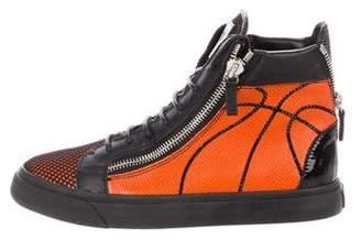 Giuseppe Zanotti Leather Basketball High-Top Sneakers