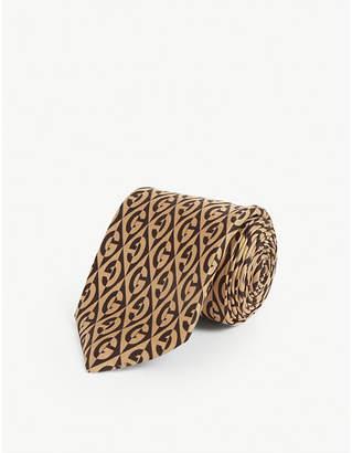 Gucci G pattern silk tie