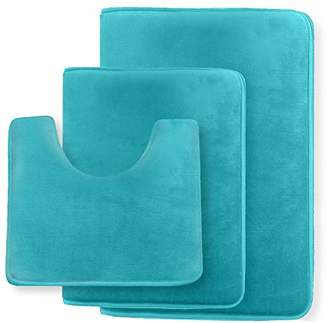 Clara Clark Non Slip Memory Foam Tub-Shower Bath Rug Set