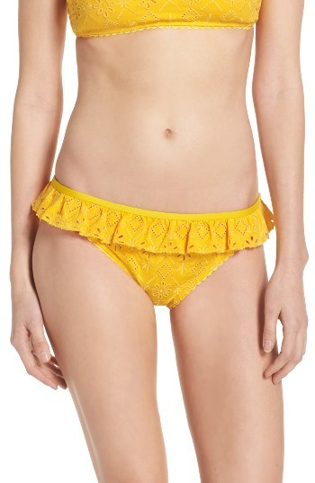 Women's Kate Spade New York Ruffle Bikini Bottoms