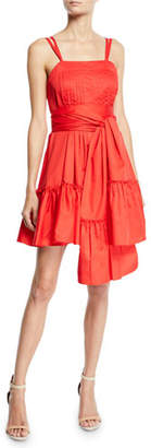 Alexis Oska Tiered Flounce Dress with Sash
