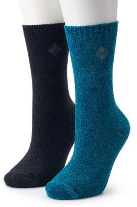 Columbia Women's 2-Pack Chenille Crew Socks