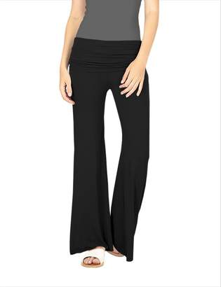 Hybrid Company Women Palazzo Pants w/Fold Over Waist Band KPZ26932 M
