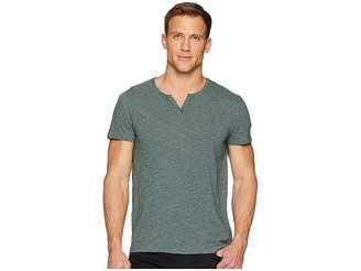 Calvin Klein Jeans Feeder Stripe Slit Neck Tee Men's T Shirt