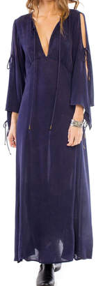 Anama Plunging Cold-Shoulder Maxi