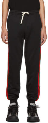 Gucci Black Web Lounge Pants