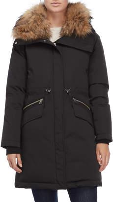 Soia & Kyo Ange Real Fur Hooded Coat