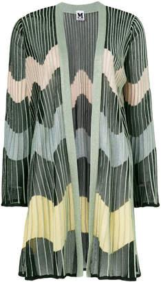 M Missoni pleated stripe cardi-coat