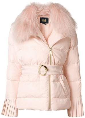 Class Roberto Cavalli belted puffer jacket