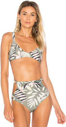 MinkPink Shady Fronds Bikini Top