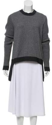 Givenchy Wool & Cashmere-Blend Sweater Grey Wool & Cashmere-Blend Sweater