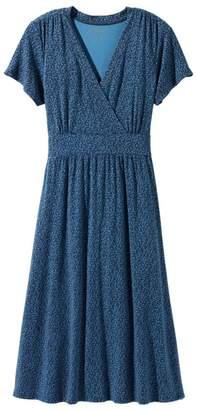 L.L. Bean L.L.Bean Summer Knit Dress, Short-Sleeve Dot Floral