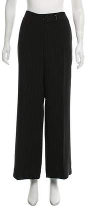 Emporio Armani Mid-Rise Wide-Leg Pants