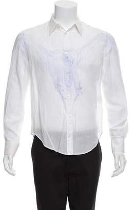 Alexander McQueen Printed Long Sleeve Shirt