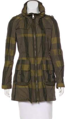 Burberry Tafetta Plaid Coat