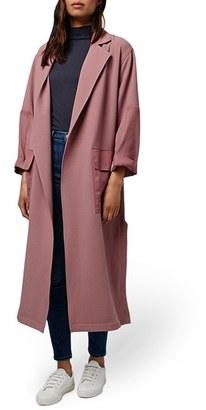 Women's Topshop Contrast Panel Duster Coat