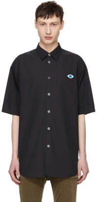 Undercover Black Chest Patch Button-Down Shirt