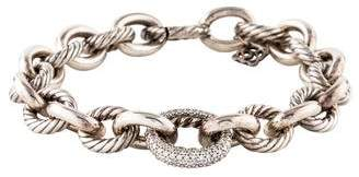David Yurman Diamond Oval Large Link Bracelet