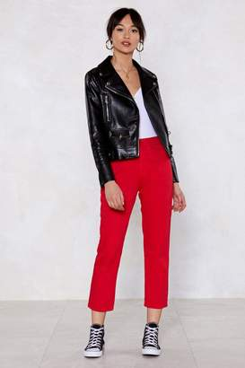 Nasty Gal You're a Jean Machine Cropped Jeans