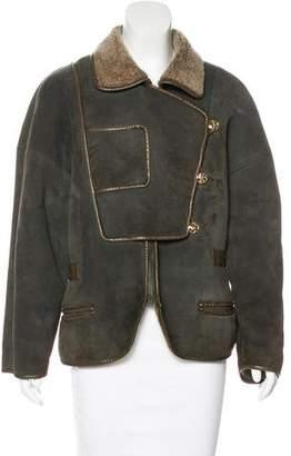 Nina Ricci Shearling Leather-Trimmed Jacket