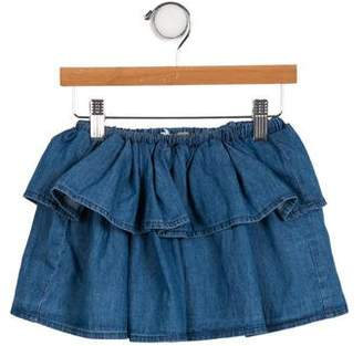 Emile et Ida Girls' Ruffled Chambray Skirt w/ Tags