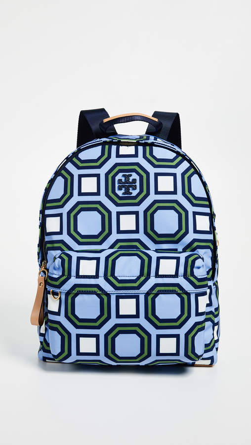 Tory Burch Nylon Backpack - LIGHT CHAMBRAY - STYLE