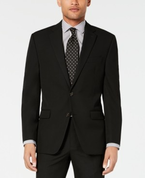 Chaps Men's Classic-Fit Stretch Wrinkle-Resistant Black Solid Suit Jacket
