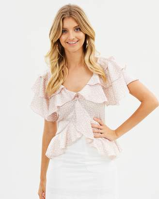 Atmos & Here ICONIC EXCLUSIVE - Genevieve Ruffle Top