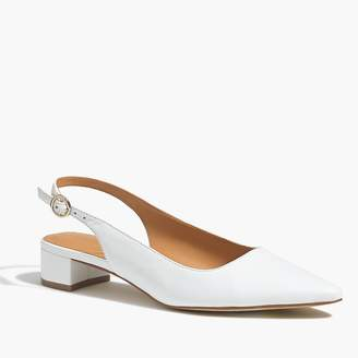 854a7b85e156 J.Crew Leather slingback block heels