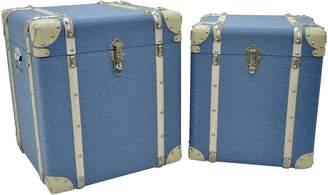 Three Hands Suitcase Trunks (Set of 2)
