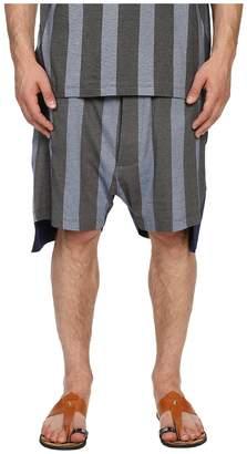 Vivienne Westwood Printed Stripe Jersey Twist Seam Shorts Men's Shorts