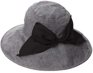 Siggi SPF 50+ Cotton Ramie Packable Bucket Sun Hats for Women Wide Brim Sunhat with Chin Cord Summer Black